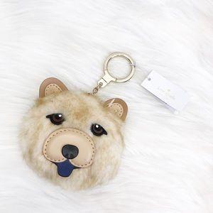 NWT Kate Spade Chow Chow Dog Key Fob